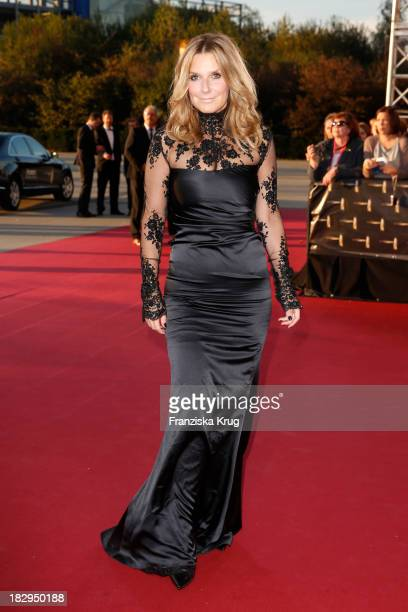 Kim Fisher attends the Deutscher Fernsehpreis 2013 - Red Carpet Arrivals at Coloneum on October 02, 2013 in Cologne, Germany.