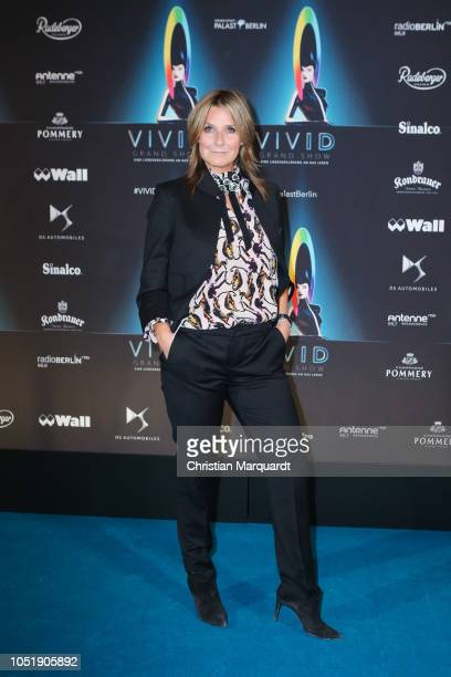 Kim Fisher attends the VIVID Grand Show premiere at Friedrichstadt-Palast on October 11, 2018 in Berlin, Germany.