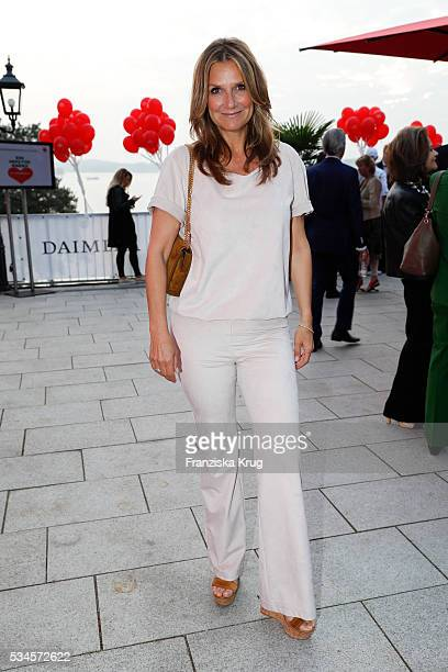 Kim Fisher during the 'Ein Herz fuer Kinder' summer party at Wannseeterrassen on May 26, 2016 in Berlin, Germany.