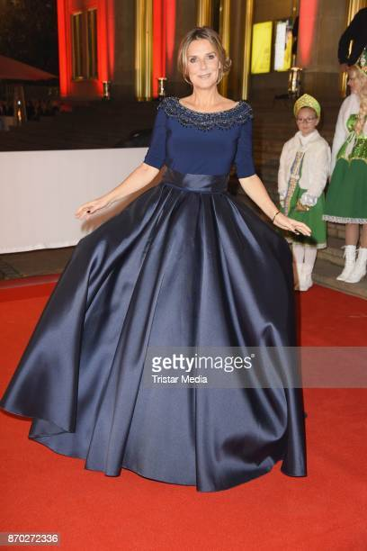 Kim Fisher in a dress of Uwe Herrmann attends the Leipzig Opera Ball on November 4 2017 in Leipzig Germany