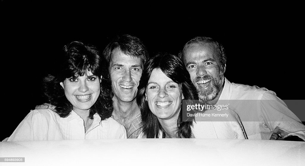 John Bennett Perry, Debbie Perry, and David Hume Kennerly with Friend : News Photo