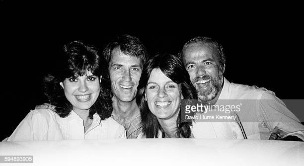 Kim Fitzgerald actor John Bennett Perry his wife Debbie Perry and photographer David Hume Kennerly in this group shoot from circa 1987 in Studio City...
