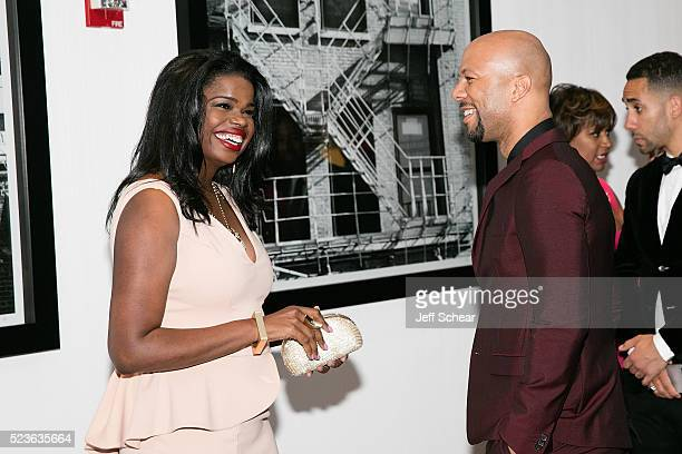 Kim Foxx and Common attend the Common Ground Gala on April 23 2016 in Chicago Illinois