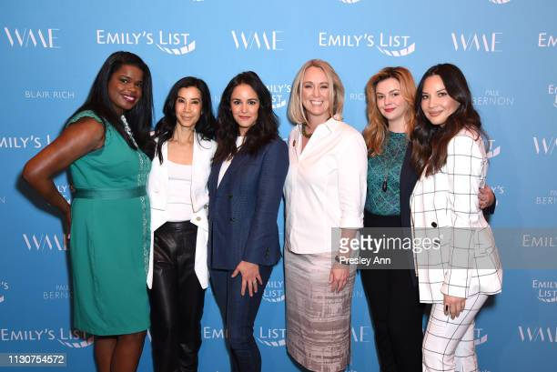 Kim Foxx Lisa Ling Melissa Fumero EMILY's List President Stephanie Schriock Amber Tamblyn and Olivia Munn attend Raising Our Voices Supporting More...