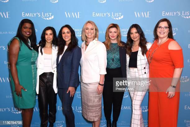 Kim Foxx Lisa Ling Melissa Fumero EMILY's List President Stephanie Schriock Amber Tamblyn Olivia Munn and EMILY's List Executive Director Emily Cain...