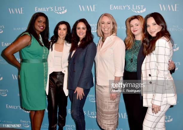 Kim Foxx, Lisa Ling, Melissa Fumero, Stephanie Schriock, Amber Tamblyn, and Olivia Munn attend EMILY's List 2nd Annual Pre-Oscars Event at Four...