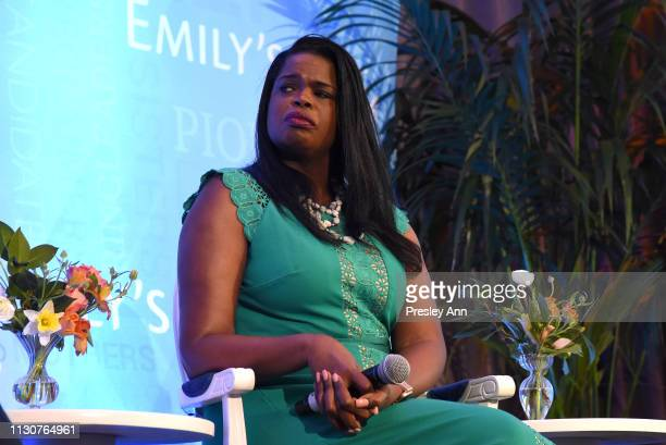 Kim Foxx speaks onstage during Raising Our Voices Supporting More Women in Hollywood Politics at Four Seasons Hotel Los Angeles in Beverly Hills on...