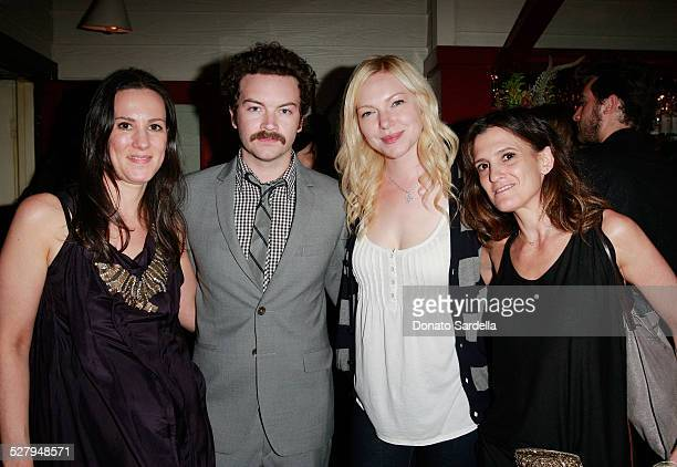 Kim France actor Danny Masterson actress Laura Prepon and Andrea Linett attend the Lucky Guide to Mastering Any Style launch on October 2 2008 in Los...
