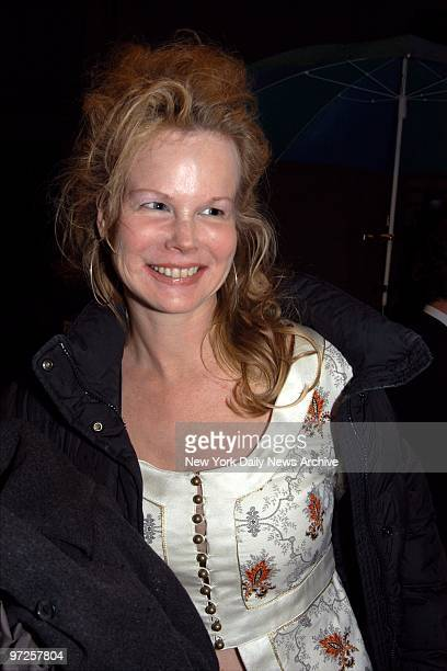 Kim Garfunkel arrives to see the opening night performance of The Play What I Wrote at the Lyceum Theater on W 45th St