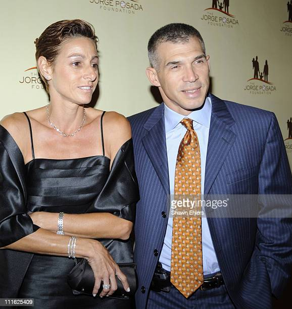 Kim Girardi and Joe Girardi attend the 7th annual Jorge Posada Foundation Heroes of Hope Gala at The Pierre Hotel on June 16 2008 in New York City