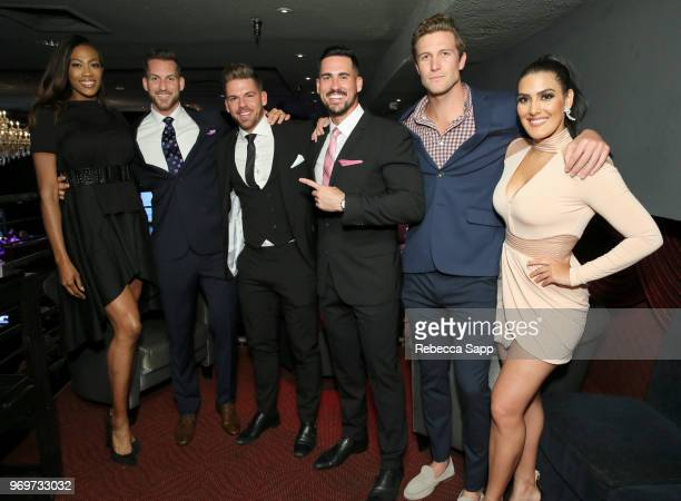 Kim Glass Chase McNary Joss Mooney Josh Murray Corey Brooks and Leia Sergakis attend Babes for Boobs Live Auction Benefiting Susan G Komen LA at El...