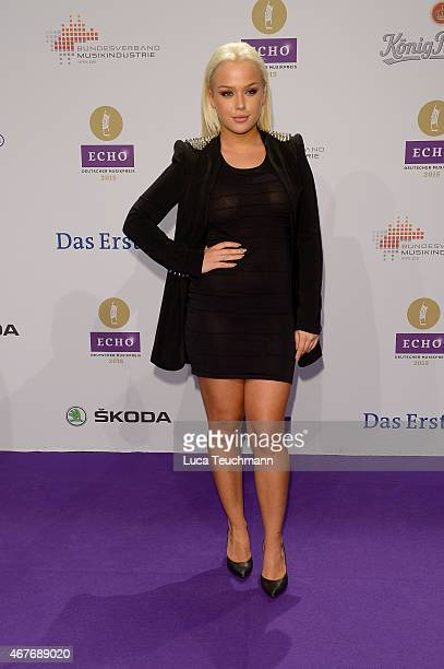 Kim Gloss attends the Echo Award 2015 Red Carpet Arrivals on March 26 2015 in Berlin Germany