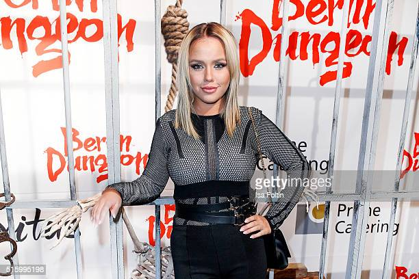 Kim Gloss attends the Premiere Of 'Exitus' FreefallTowers At Berlin Dungeon on March 16 2016 in Berlin Germany