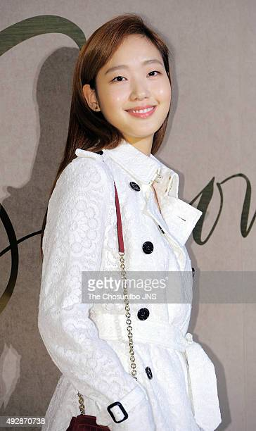 Kim Goeun attends the Burberry flagship store opening event at Cheongdamdong on October 15 2015 in Seoul South Korea