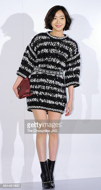 Kim GoEun poses for photographs during the Culture Chanel The Sense of Places opening event at DDP on August 29 2014 in Seoul South Korea