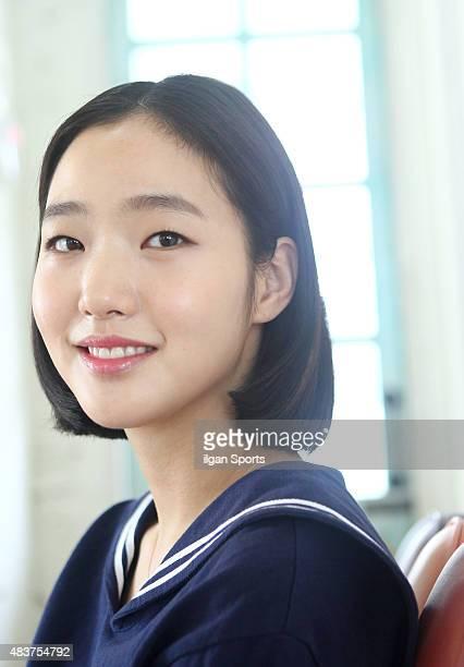 Kim GoEun poses for photographs on August 7 2015 in Seoul South Korea