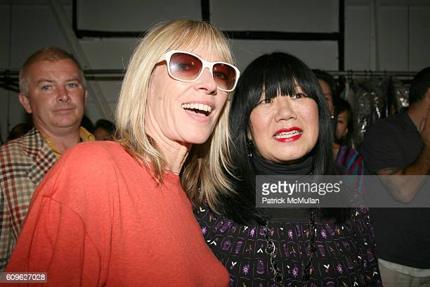 Kim Gordon and Anna Sui attend ANNA SUI Spring 2008 Collection at The Tent on September 10 2007 in New York City