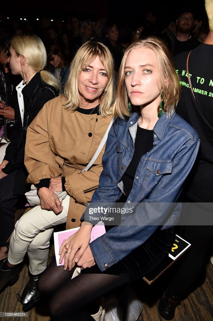 Kim Gordon and Coco Gordon Moore attend Opening Ceremony - Front Row - September 2018 - New York Fashion Week on September 9, 2018 in New York City.