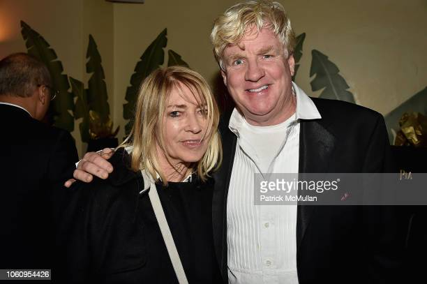 Kim Gordon and Peter Tunney attend The Andy Warhol Museum's Annual NYC Dinner at Indochine on November 12 2018 in New York New York
