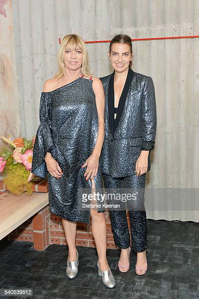 Kim Gordon and Rachel Comey attend Rachel Comey Los Angeles Store Opening on June 15 2016 in Los Angeles California