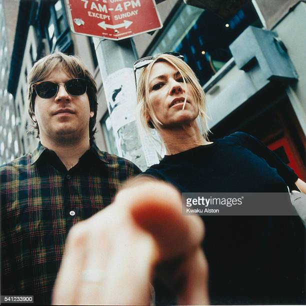 Kim Gordon and Steve Shelley of Sonic Youth