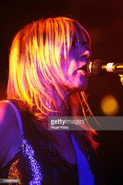 Kim Gordon of Sonic Youth perform onstage at All Tomorrow's Parties New York Festival 2010 Day 2 at Kutshers Country Club on September 4, 2010 in...