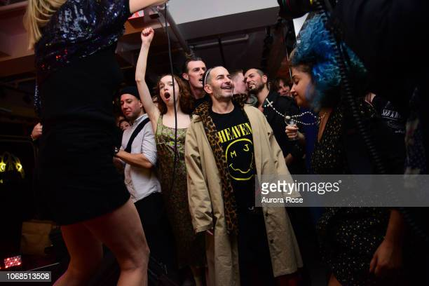 Kim Gordon performs with Olivia Forte and Marc Jacobs in the audience at Marc Jacobs Sofia Coppola Katie Grand Celebrate The Marc Jacobs Redux Grunge...