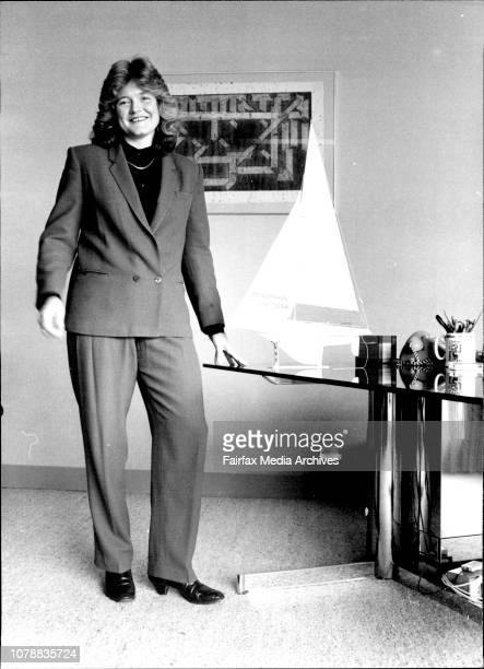 Kim Harding women executive at American express picture for series on women dressing for success March 22 1984