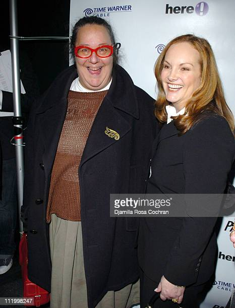Kim Hastreiter and Patricia Hearst during 'John Waters Presents Movies That Will Corrupt You' Launch Party at Happy Valley in New York City New York...