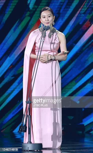 Kim Hee-Ae attends the 56th Baeksang Arts Awards at Kintex on June 05, 2020 in Goyang, South Korea.