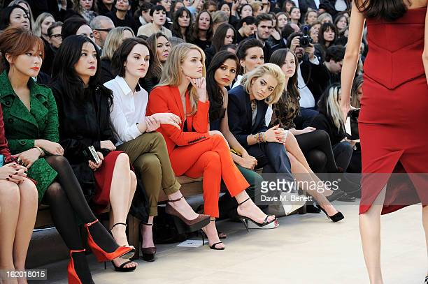 Kim Heesun Vicki Zhao Michelle Dockery Rosie HuntingtonWhiteley Freida Pinto Rita Ora Kate Beckinsale and Lily Mo Sheen sit in the front row for the...
