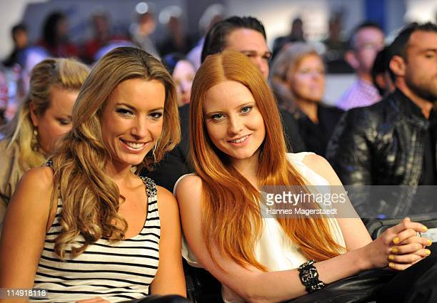Kim Heinzelmann and topmodel Barbara Meier attend the 'Night Of The Champions' Box Event at the Olypia Eisstadion on May 28 2011 in Munich Germany