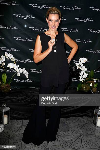Kim Heinzelmann attends the Thomas Sabo grand flagship store opening on October 14 2015 in Munich Germany