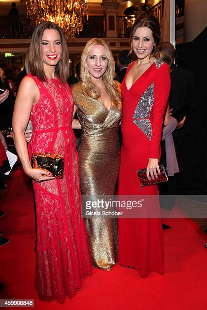 Kim Heinzelmann Katja Wunderlich Verena Kerth during the Audi Generation Award 2014 at Hotel Bayerischer Hof on December 3 2014 in Munich Germany