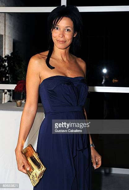 Kim Heirston attends the Yves Saint Laurent and ArtForum celebration of Art Basel 2008 at The Bass Museum on December 5 2008 in Miami Beach Florida