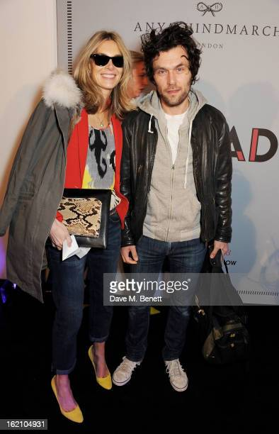 Kim Hersov and Barry Reigate attend the Anya Hindmarch Autumn/Winter 2013 presentation during London Fashion Week at P3 on February 19 2013 in London...