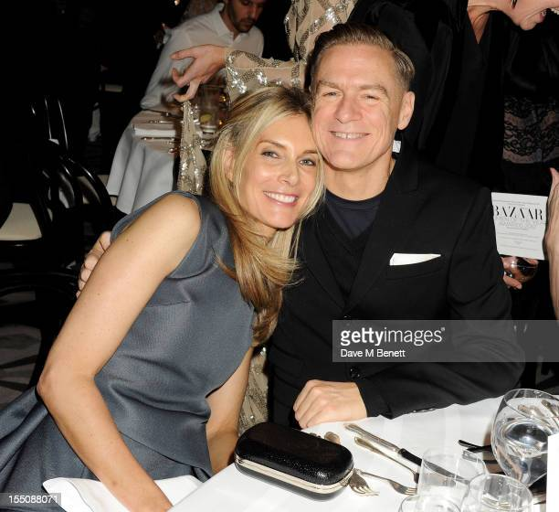 Kim Hersov and Bryan Adams attend the Harper's Bazaar Women of the Year Awards 2012 in association with Estee Lauder Harrods and Tiffany Co at...