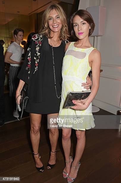 Kim Hersov and Ella Catliff attend The NET SET powered by NETAPORTERCOM launch party on May 13 2015 in London England