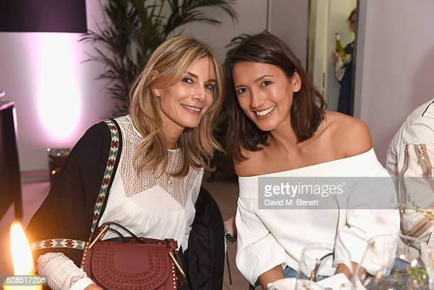 Kim Hersov and Hikari Yokoyama attend a private dinner hosted by Mih Jeans to celebrate their 10th anniversary at Brewer Street Car Park on May 5...