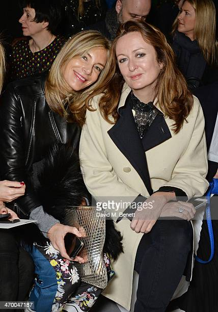 Kim Hersov and Lucy Yeomans attend the Anya Hindmarch AW14 show at The Old Billingsgate on February 18 2014 in London England
