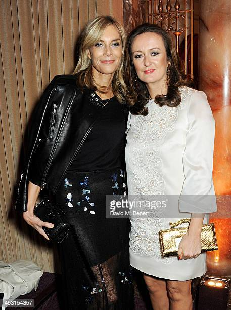 Kim Hersov and Lucy Yeomans attend the British Fashion Awards 2013 drinks reception at the London Coliseum on December 2 2013 in London England