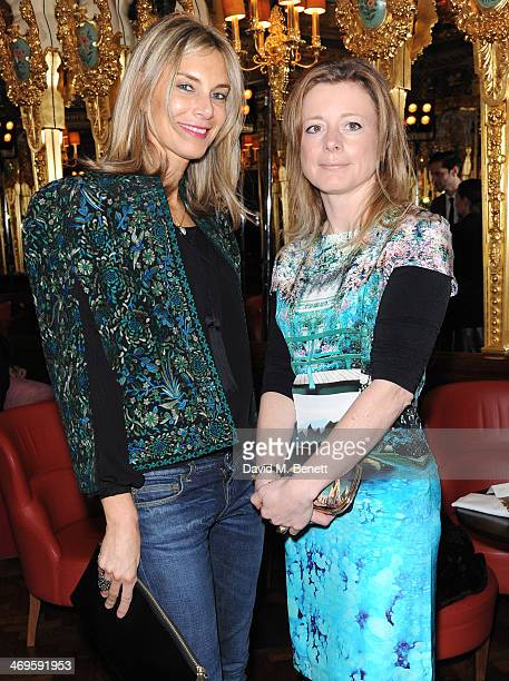 Kim Hersov and Tiffanie Darke attend the GRACE debut and AW14 dinner at Cafe Royal on February 15 2014 in London England