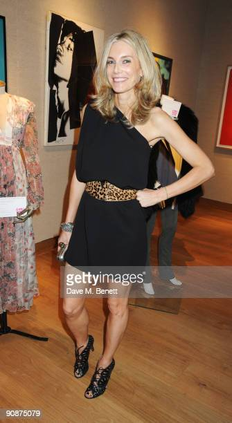 Kim Hersov at the 'Liver Good Life' Charity Party at Christies on September 16 2009 in London England