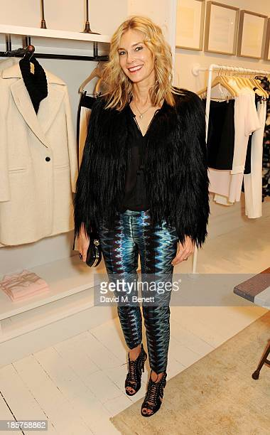 Kim Hersov attends a drinks reception celebrating the opening of Club Monaco's first London store in Westbourne Grove on October 24 2013 in London...