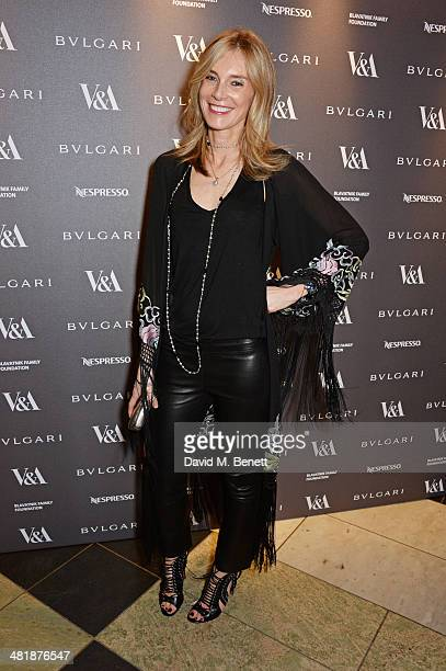 Kim Hersov attends a private dinner celebrating the Victoria and Albert Museum's new exhibition 'The Glamour Of Italian Fashion 1945 2014' at...