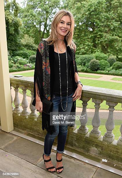 Kim Hersov attends the Creatures of the Wind Resort 2017 collection and runway show presented by Farfetch at Spencer House on June 29 2016 in London...