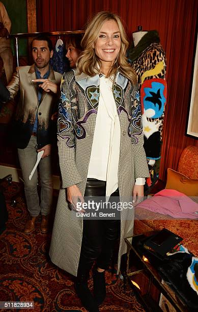 Kim Hersov attends the Mary Katrantzou London Fashion Week lunch at Mark's Club on February 23 2016 in London England