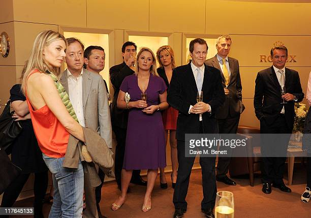Kim Hersov Geordie Greig Chris Hollins Carol Kirkwood and Tom Parker Bowles attend the opening of the Rolex store at One Hyde Park on June 29 2011 in...