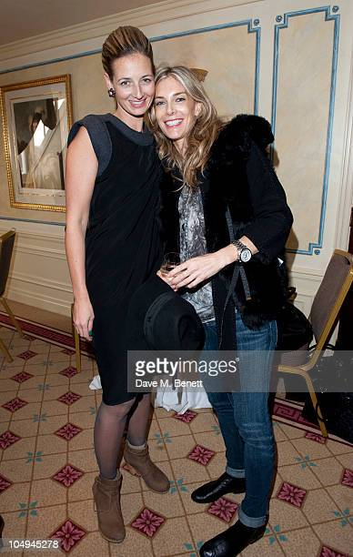 Kim Hersov Group VP US Retail Sales and Candida Gertler attend The Art Power List 2010 Launch Party by Harper's Bazaar and Tiffany Co on October 7...