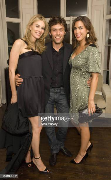 Kim Hersov Jessica de Rothschild and guest attend the Diane Von Furstenberg Party hosted by Arpad Busson on September 16 2007 in Chelsea London